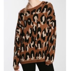 Urban Outfitters Sparkle & Fade Leopard Sweater